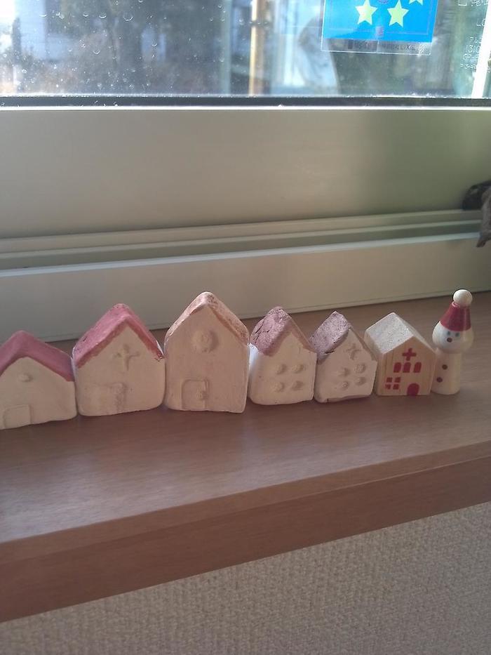 ダイソーの石粉粘土でお家作り!100円で簡単インテリアの画像3