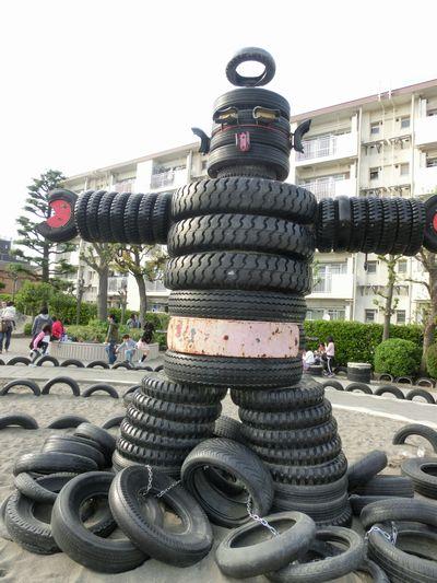 ゴジラもいる!?親子で遊びに行きたい「タイヤ公園」とは?の画像3