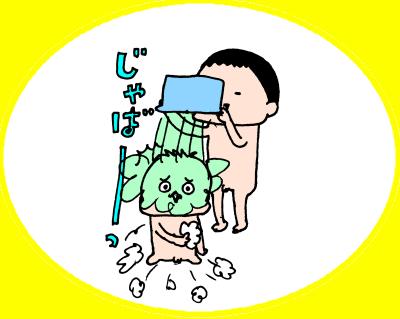遊ぶ・遊ぶ・ひたすら遊ぶ!3兄妹のお風呂遊びはとにかく激しい~! ハナペコ絵日記<17>の画像11