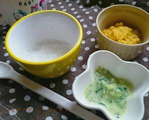 【離乳食】モグモグ期のおすすめレシピ!7倍粥・白身魚のミルク煮・かぼちゃの煮物の作り方の画像1