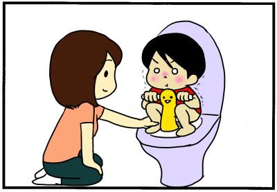 「うんち怖い!」と言う息子。対策はコレだ!【No.26】じゃがころと愉快な子どもたち トイトレ3の画像3