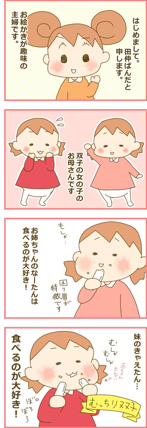 ★新規連載★田仲ぱんだのきゅんかわ♡ふたご育児、はじまります!の画像1