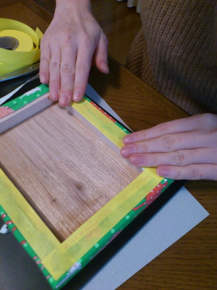 """家にある布で簡単かわいい!""""ファブリックパネル""""の作り方の画像4"""