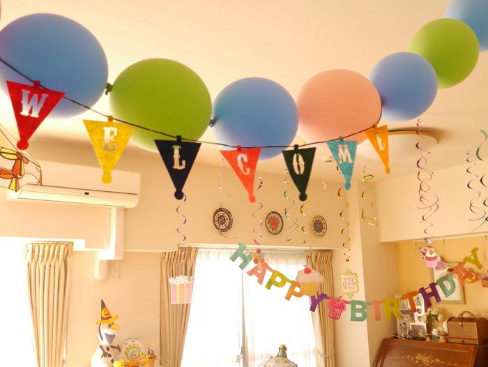 お誕生日パーティーの飾り付け♡3つのマストアイテムの画像4