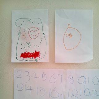 子どもの作品を壁に飾りたい!そんな時は、コクヨの「ひっつき虫」が便利♪の画像3
