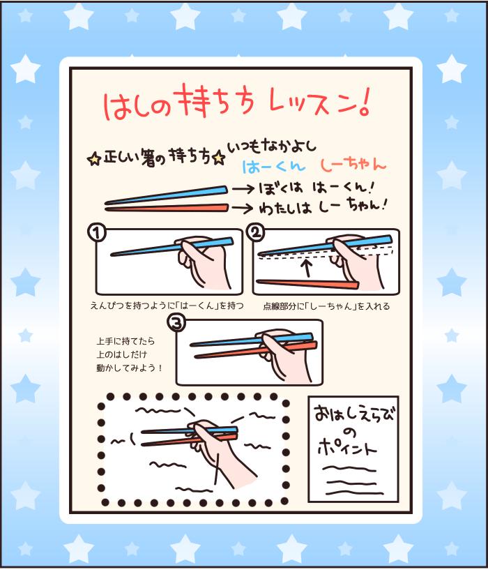 """お箸の練習に息詰まったら""""はーちゃん・しーちゃん""""を使ってみて!の画像3"""