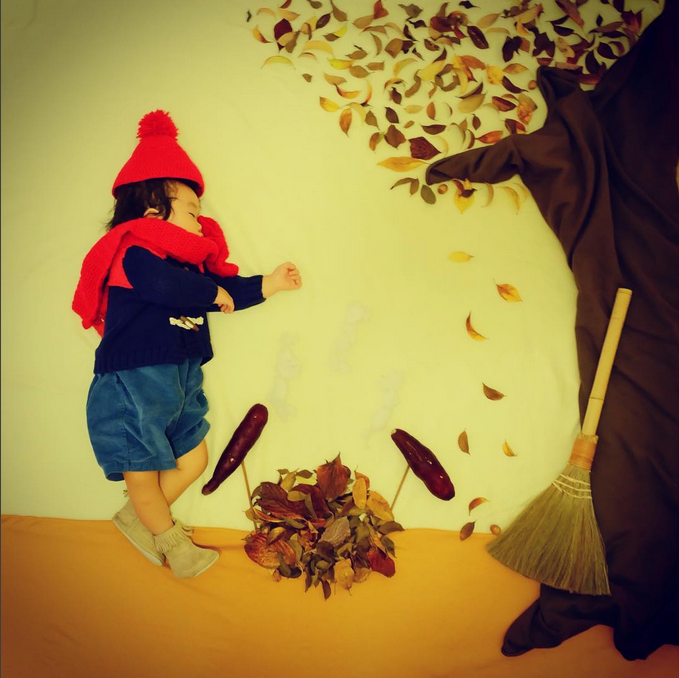すやすや寝てる我が子をアートで飾ろう!人気の「寝相アート」が可愛い♡の画像3
