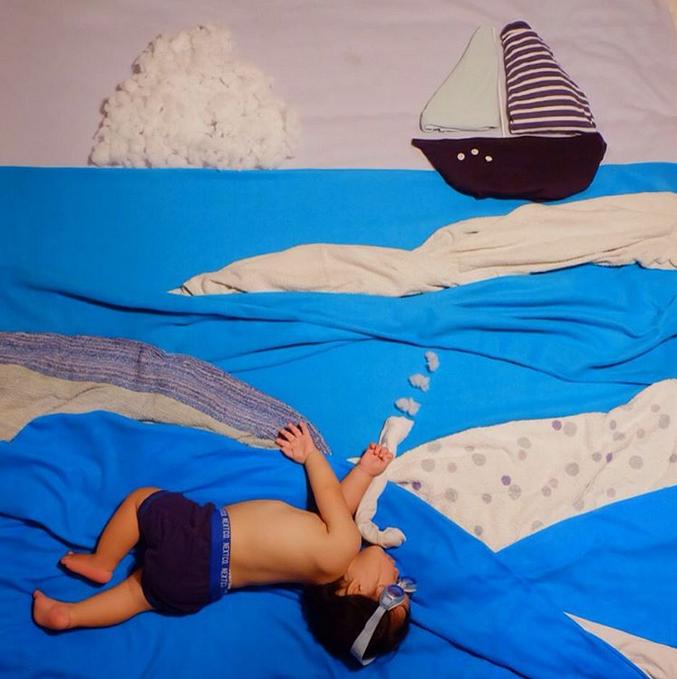 すやすや寝てる我が子をアートで飾ろう!人気の「寝相アート」が可愛い♡の画像2