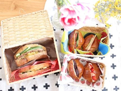 行楽シーズン到来♡バターロールとカンパーニュで見た目も可愛いサンドイッチ弁当をつくろう!のタイトル画像