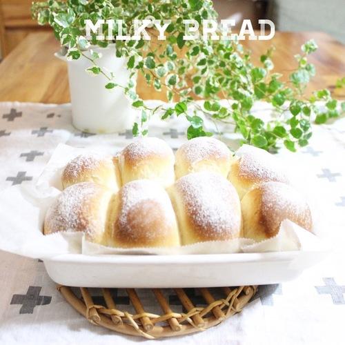 コンデンスミルクでふわふわミルキーなちぎりパン!サンドイッチのオススメレシピのタイトル画像