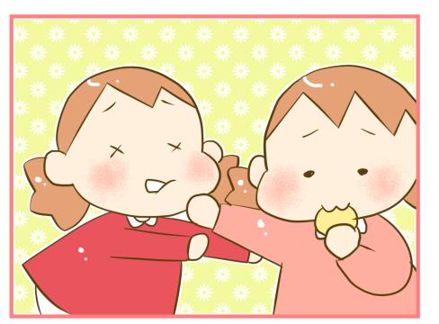 もっと食べたい!双子のパンケーキをめぐる攻防戦が、意外にも激しい(笑)の画像3