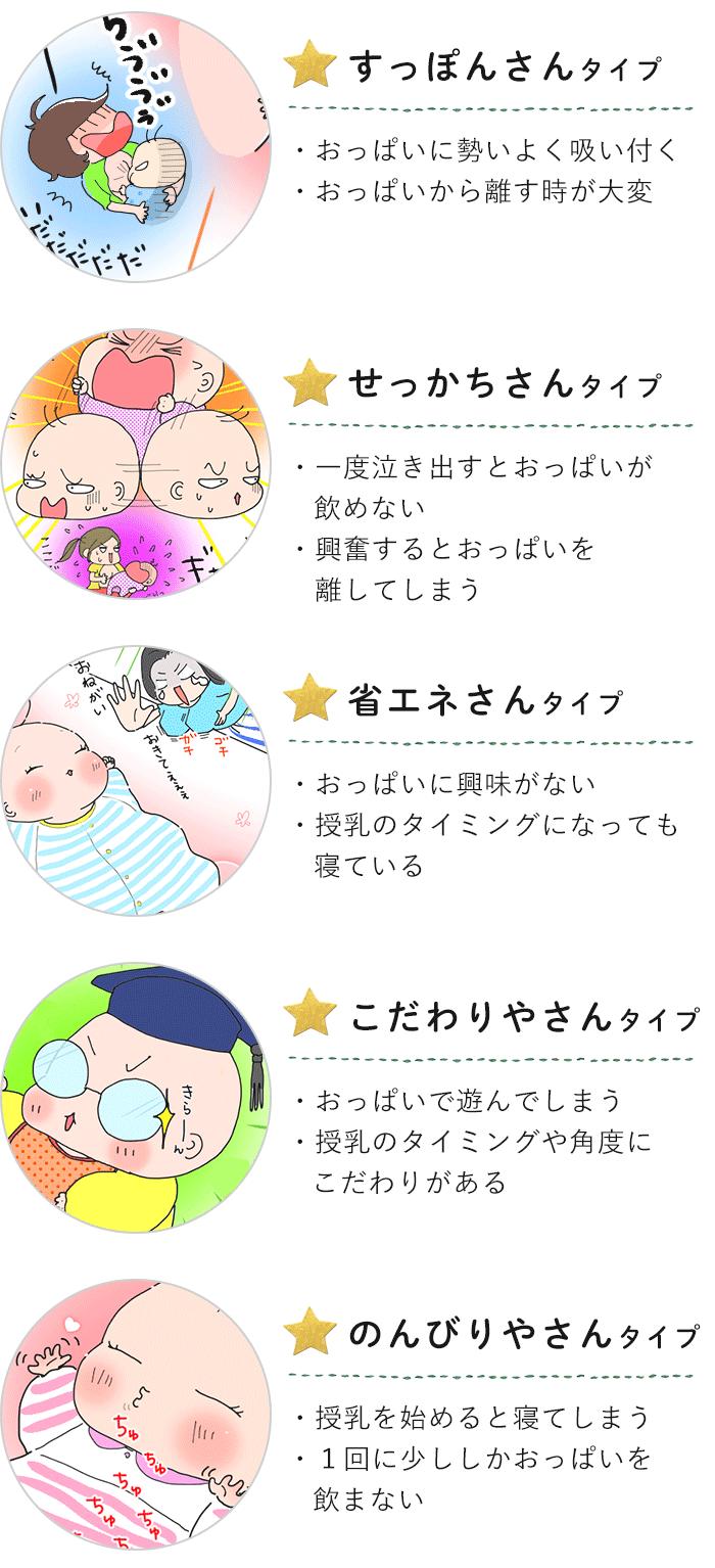 タイプを知るともっと楽になる!授乳にまつわる赤ちゃん5つのタイプの画像2