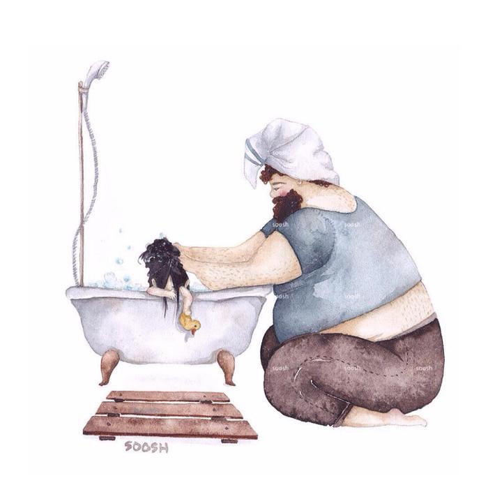 「大きなパパと小さな娘」のイラストに、世界中が心温まる!の画像4