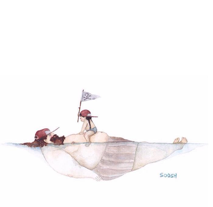 「大きなパパと小さな娘」のイラストに、世界中が心温まる!の画像11
