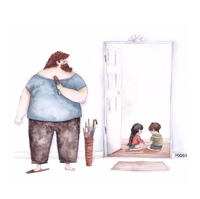 「大きなパパと小さな娘」のイラストに、世界中が心温まる!の画像6