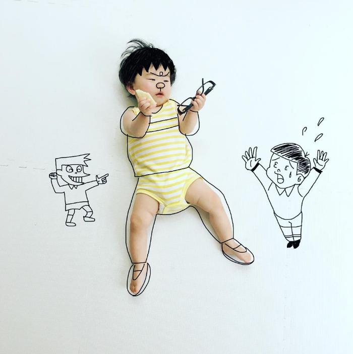 寝相アートに新ジャンル?インスタママが描く「寝相らくがきアート」の世界観が、好き♡の画像10