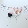 寝相アートに新ジャンル?インスタママが描く「寝相らくがきアート」の世界観が、好き♡のタイトル画像