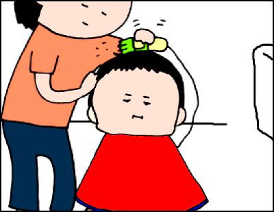 いざ、子どもの散髪!イメトレはバッチリなのに、いつもこうなります。の画像5