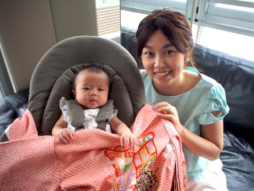 赤ちゃんと一緒に食卓を♡お食い初めにはハイチェアにもなるバウンサーがオススメ!の画像3