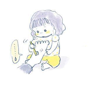 """1歳児の可愛さが""""ギュッ""""と詰まったイラストの数々。とにかく癒しパワーがすごいのです…の画像9"""