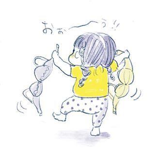 """1歳児の可愛さが""""ギュッ""""と詰まったイラストの数々。とにかく癒しパワーがすごいのです…の画像11"""