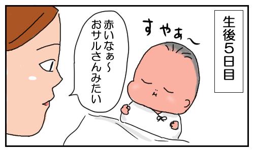 赤い 新生児 顔 が