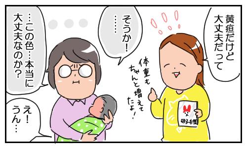 「新生児黄疸」による赤い肌を、気にしすぎる実母。その結果…の画像4