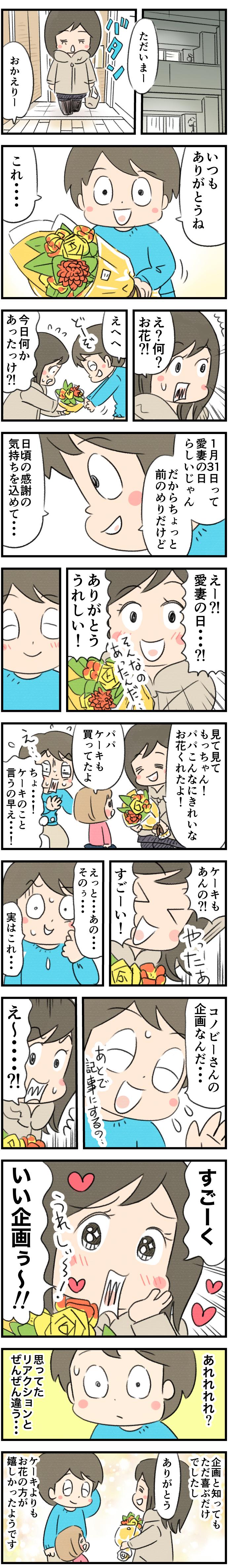 1月31日は愛妻の日。妻に花束を渡した時の反応は?予想と実際をレポート!の画像4
