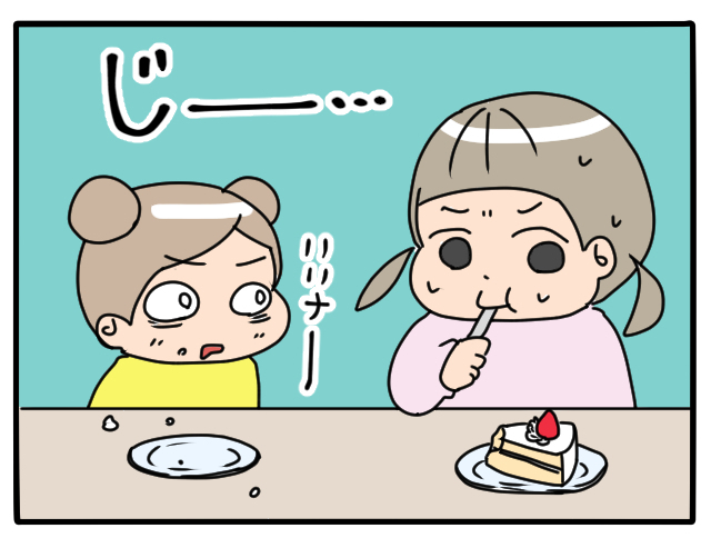 長女と次女。おやつの食べ方がまったく違っておもしろい(笑)の画像6