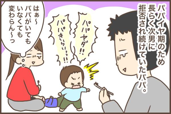 """パパとの歯磨きを拒否する""""パパイヤ期""""な2歳息子。この作戦が、意外と効いた!の画像1"""