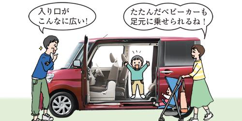 ゆったり子育て!ママのかゆい所に手が届くファミリーカーを1日体験!のタイトル画像