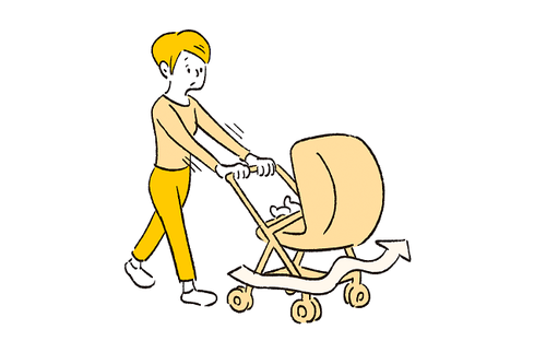ベビーカーの押し方で疲れがちがう?知って得する育児のラク技!のタイトル画像