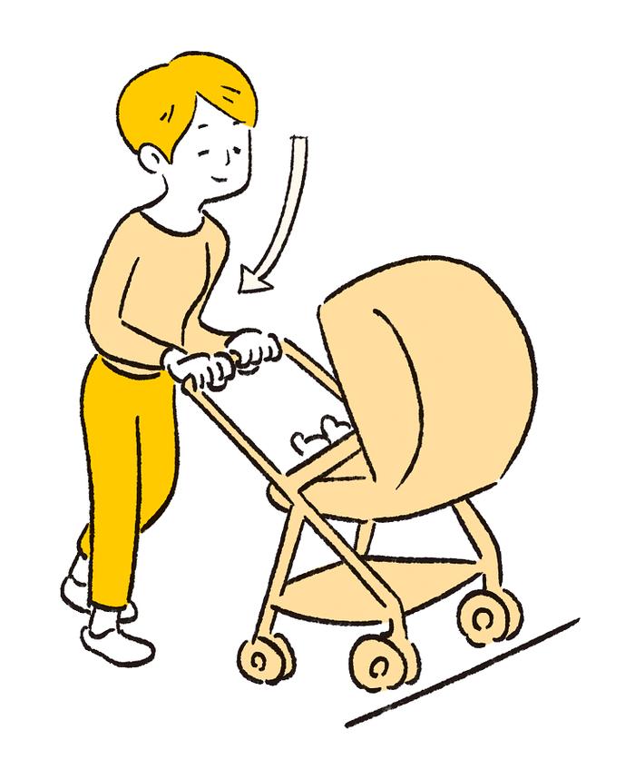 ベビーカーの押し方で疲れがちがう?知って得する育児のラク技!の画像6