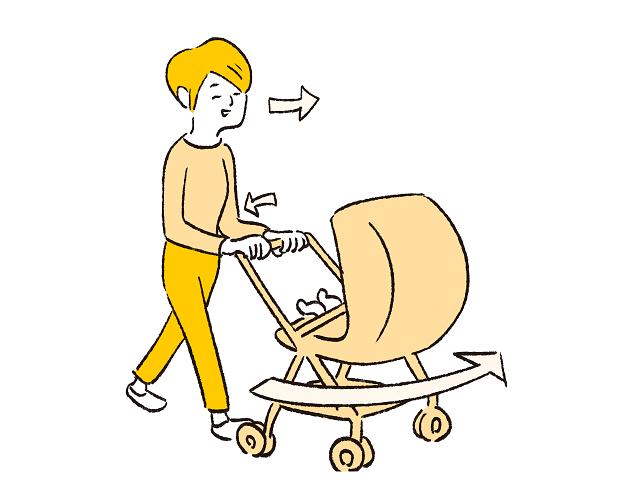 ベビーカーの押し方で疲れがちがう?知って得する育児のラク技!の画像4