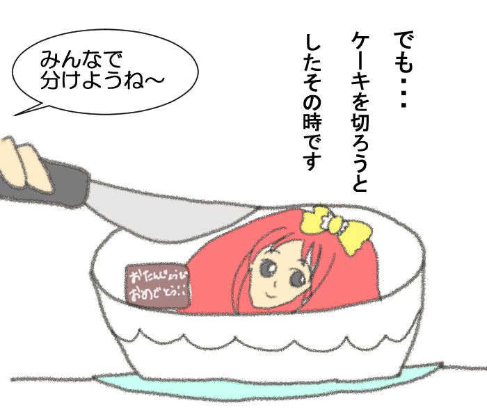 大好きなキャラクターで誕生日ケーキ。これ…どうやって食べる!?の画像5