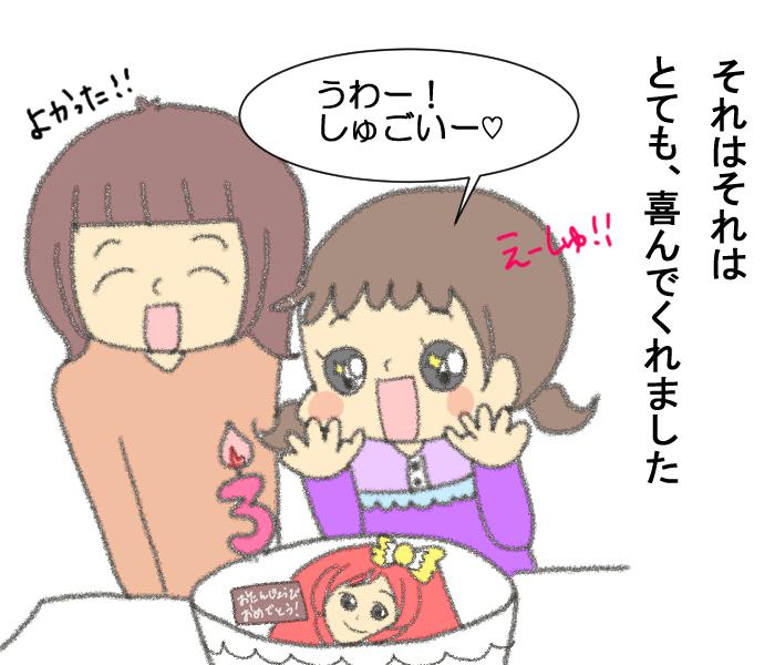 大好きなキャラクターで誕生日ケーキ。これ…どうやって食べる!?の画像4