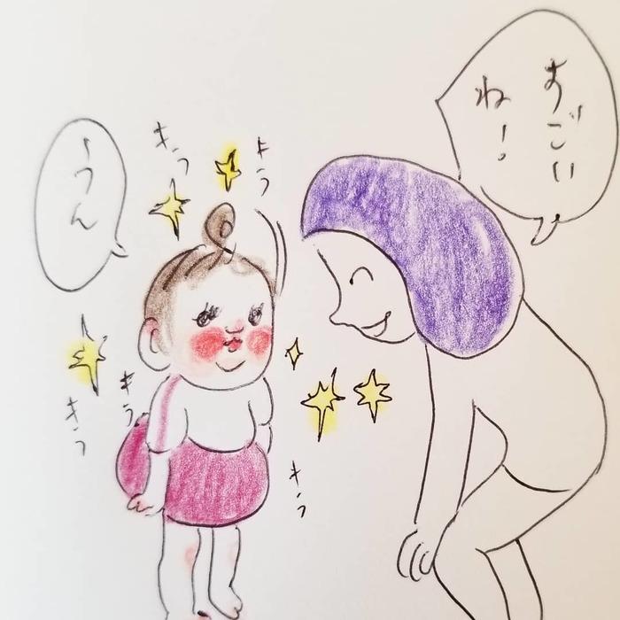 「なんて言ってるんだろう(笑)」一生懸命お話する2歳児が可愛すぎ..♡の画像21