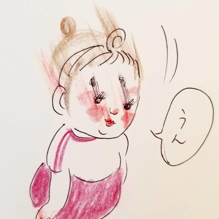 「なんて言ってるんだろう(笑)」一生懸命お話する2歳児が可愛すぎ..♡の画像22