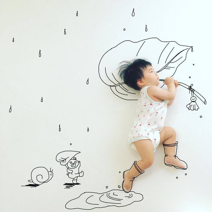 「寝相らくがきアートのコツは?どういう風に描いてるの?」お聞きしました!!の画像5