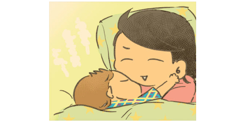寝る前にママの体に触れたい息子。おっぱい→耳たぶ→これってまさか…!?のタイトル画像