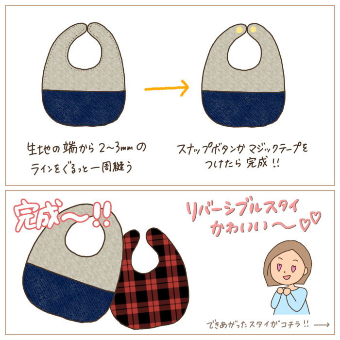 赤ちゃんに手作りの贈り物♡「手作りスタイ」の作り方&アイデア集の画像21