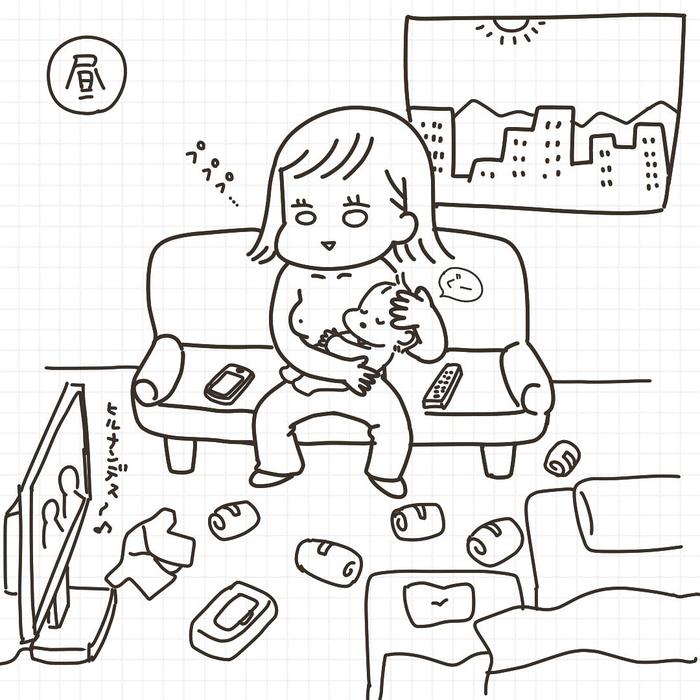「産後=乳出しっぱ+ソファ生活」これがリアルな赤ちゃんとの日々!の画像8