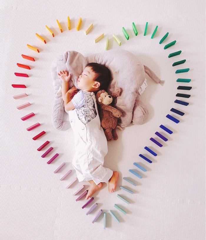 パズルや積み木を使った「進化系お昼寝アート」が可愛すぎて真似したい♡の画像6