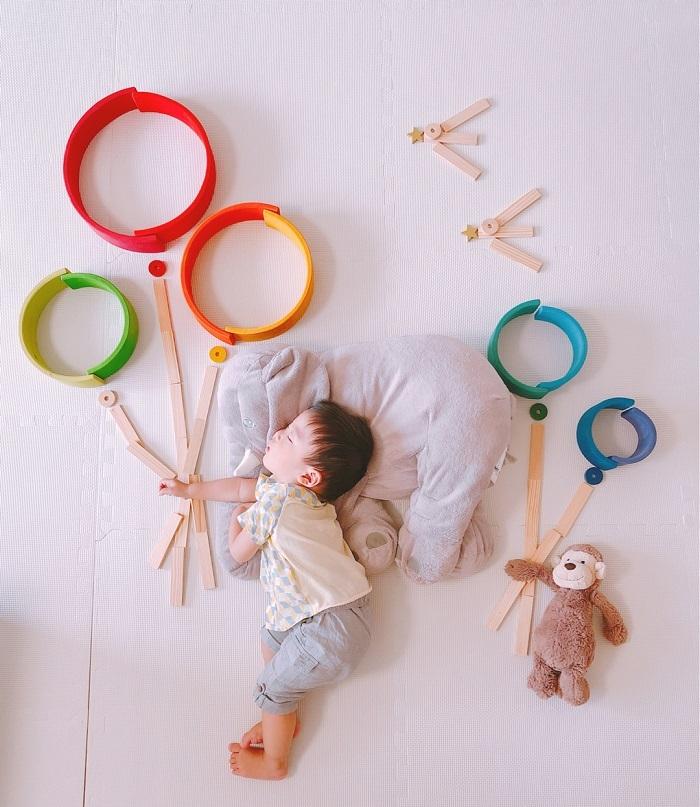 パズルや積み木を使った「進化系お昼寝アート」が可愛すぎて真似したい♡の画像16