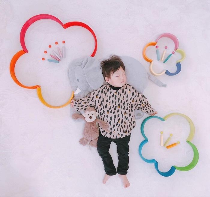 パズルや積み木を使った「進化系お昼寝アート」が可愛すぎて真似したい♡の画像4