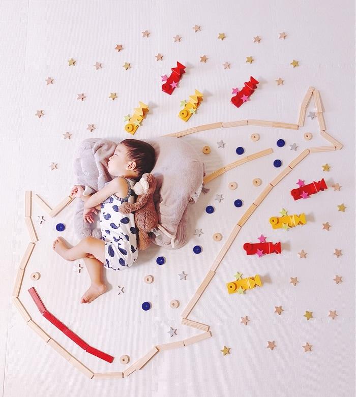パズルや積み木を使った「進化系お昼寝アート」が可愛すぎて真似したい♡の画像22