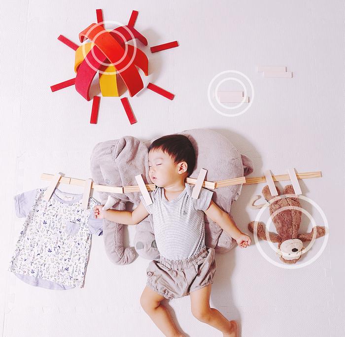 パズルや積み木を使った「進化系お昼寝アート」が可愛すぎて真似したい♡の画像12