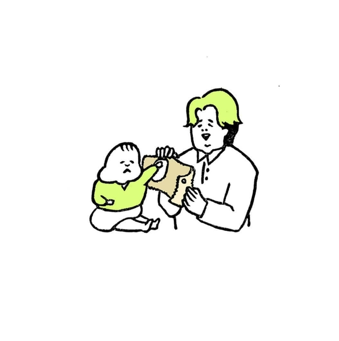 5ヶ月娘ちゃんの予想外の瞬間を描いた消しゴムはんこがすごい!!の画像15