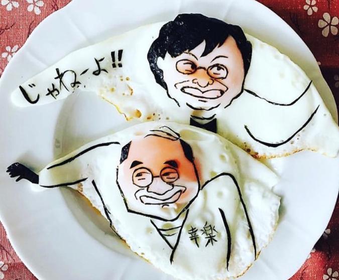 目玉焼きと海苔だけ!卵から生まれるアートな作品がすごすぎる!の画像8