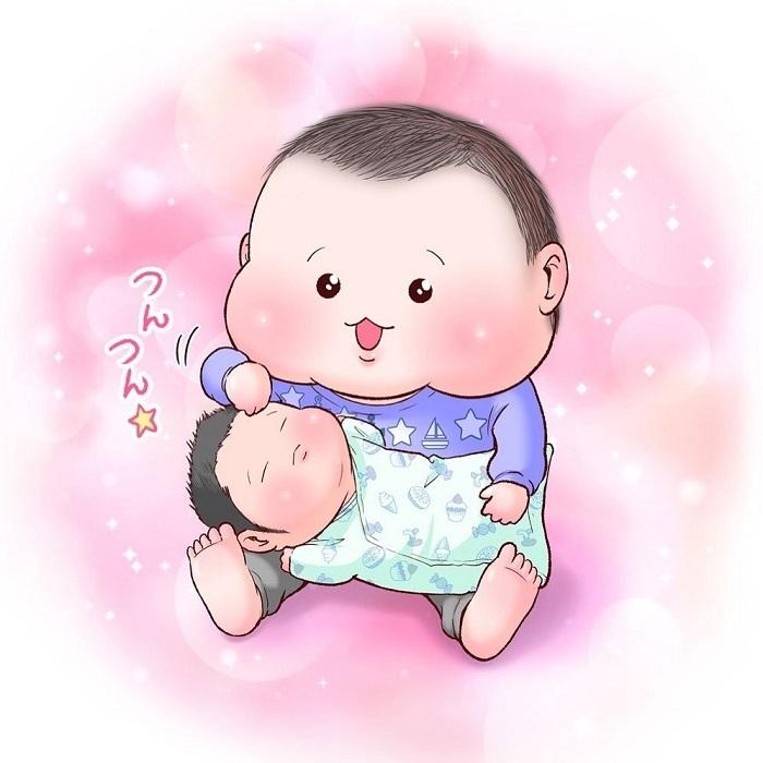 眼福…ぷにっぷに赤ちゃんの、超愛しい瞬間。うちの子もこの顔する〜!の画像1